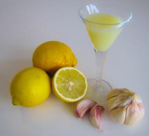 Knoblauch Zitrone Kur